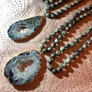 Jewelry - Handmade Natural Druzy Crystal Pendant Necklace